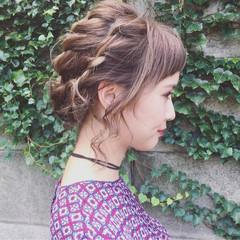 成人式 ストリート ヘアアレンジ アップスタイル ヘアスタイルや髪型の写真・画像