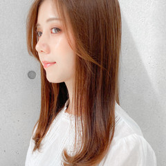 レイヤースタイル 愛され セミロング モテ髪 ヘアスタイルや髪型の写真・画像