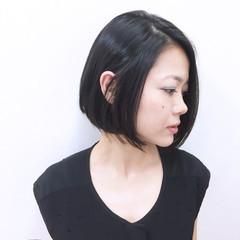 内巻き モード コンサバ 黒髪 ヘアスタイルや髪型の写真・画像