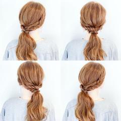 ヘアアレンジ ロング 涼しげ ナチュラル ヘアスタイルや髪型の写真・画像