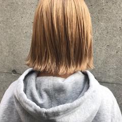 ベージュ 外国人風カラー ボブ ハイトーン ヘアスタイルや髪型の写真・画像