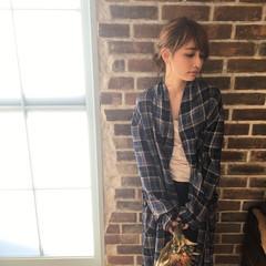ミディアム シニヨン デート ヘアアレンジ ヘアスタイルや髪型の写真・画像