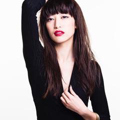 大人女子 ブラントカット モード 黒髪 ヘアスタイルや髪型の写真・画像