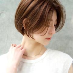 こなれ感 ショートヘア 前髪なし エレガント ヘアスタイルや髪型の写真・画像