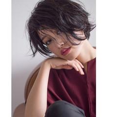 ショート ウェーブ パーマ ボブ ヘアスタイルや髪型の写真・画像