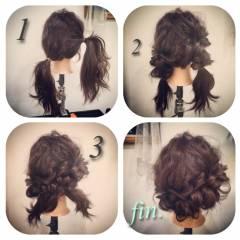 ヘアアレンジ くるりんぱ ヘアスタイルや髪型の写真・画像