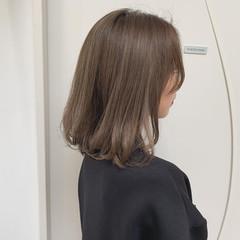 透け感 ハイトーンカラー ボブ ダブルカラー ヘアスタイルや髪型の写真・画像