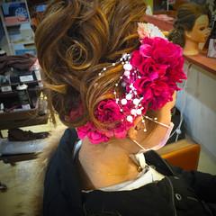 アップスタイル ヘアアレンジ 成人式 ゆるふわ ヘアスタイルや髪型の写真・画像