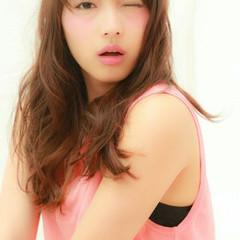 アンニュイ 大人かわいい 前髪あり セミロング ヘアスタイルや髪型の写真・画像