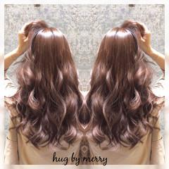 ゆるふわ ガーリー セミロング フェミニン ヘアスタイルや髪型の写真・画像
