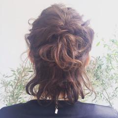 大人かわいい アッシュ ハーフアップ ヘアアレンジ ヘアスタイルや髪型の写真・画像