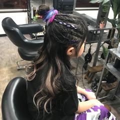 ハイライト ロング エクステ キッズ ヘアスタイルや髪型の写真・画像