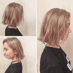 ショート ハイトーン ストリート ボブ ヘアスタイルや髪型の写真・画像