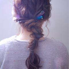 ヘアアレンジ 編み込み 結婚式 ゆるふわ ヘアスタイルや髪型の写真・画像