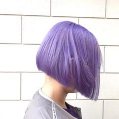 ハイトーンカラー パープル ストリート インナーカラー ヘアスタイルや髪型の写真・画像