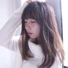ガーリー 前髪あり 大人かわいい ゆるふわ ヘアスタイルや髪型の写真・画像