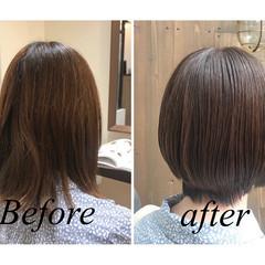 ツヤ髪 ナチュラル イルミナカラー 大人ヘアスタイル ヘアスタイルや髪型の写真・画像