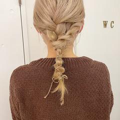シアーベージュ ヘアアレンジ ミディアム ふわふわヘアアレンジ ヘアスタイルや髪型の写真・画像
