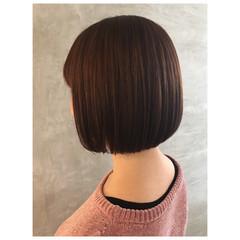 ボブ ナチュラル タンバルモリ ミニボブ ヘアスタイルや髪型の写真・画像