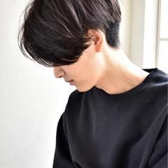 ショート パーマ モテ髪 ボーイッシュ ヘアスタイルや髪型の写真・画像