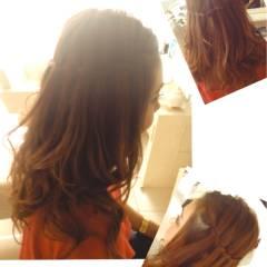 ウォーターフォール ナチュラル ゆるふわ ルーズ ヘアスタイルや髪型の写真・画像