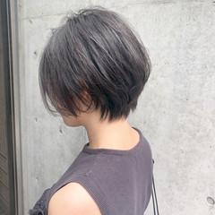 ナチュラル オフィス 黒髪 ショートボブ ヘアスタイルや髪型の写真・画像