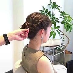 アウトドア セミロング ナチュラル 女子会 ヘアスタイルや髪型の写真・画像
