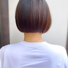ナチュラル ミニボブ ボブ ショートヘア ヘアスタイルや髪型の写真・画像