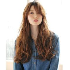 大人かわいい ナチュラル 小顔ヘア ロング ヘアスタイルや髪型の写真・画像