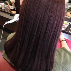 ナチュラル ピンク グラデーションカラー グレージュ ヘアスタイルや髪型の写真・画像
