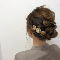 ママ 外国人風 謝恩会 ヘアアレンジ ヘアスタイルや髪型の写真・画像