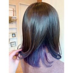 グラデーションカラー 外国人風カラー ミディアム ガーリー ヘアスタイルや髪型の写真・画像