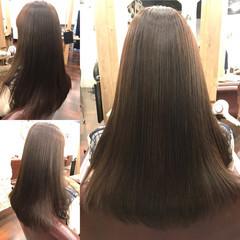 エレガント デジタルパーマ 黒髪 ロング ヘアスタイルや髪型の写真・画像