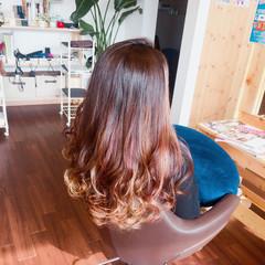 パープル ハイライト グラデーションカラー 外国人風 ヘアスタイルや髪型の写真・画像