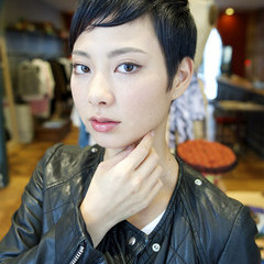暗髪 黒髪 ストリート レイヤーカット ヘアスタイルや髪型の写真・画像