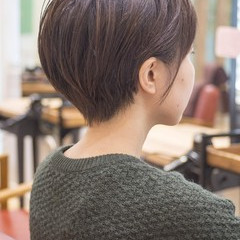 ナチュラル ショートカット ショートヘア ショート ヘアスタイルや髪型の写真・画像