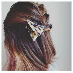 編み込み ヘアアレンジ ボブ ハーフアップ ヘアスタイルや髪型の写真・画像