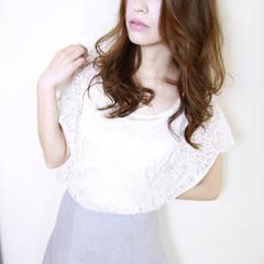 大人かわいい パーマ ハイライト ロング ヘアスタイルや髪型の写真・画像