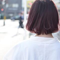 ナチュラル ラベンダーピンク ピンク ボブ ヘアスタイルや髪型の写真・画像