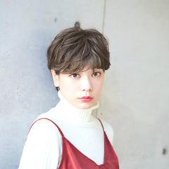 アッシュ 似合わせ ナチュラル 冬 ヘアスタイルや髪型の写真・画像