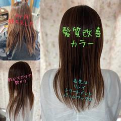 髪質改善カラー ナチュラルグラデーション ロング 髪質改善 ヘアスタイルや髪型の写真・画像