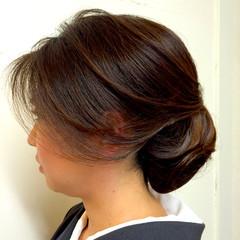 着物 シニヨン ヘアアレンジ ロング ヘアスタイルや髪型の写真・画像