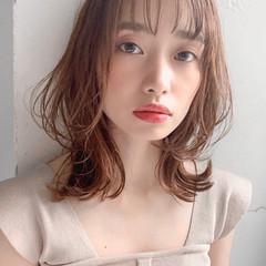ゆるふわ モテ髪 ミディアム ひし形シルエット ヘアスタイルや髪型の写真・画像