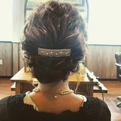 ハーフアップ ボブ ゆるふわ ショート ヘアスタイルや髪型の写真・画像