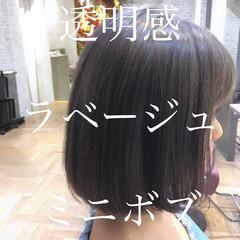 大人かわいい ナチュラル 透明感カラー 外国人風カラー ヘアスタイルや髪型の写真・画像