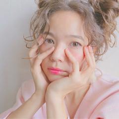 外国人風 ヘアアレンジ アッシュベージュ ショート ヘアスタイルや髪型の写真・画像