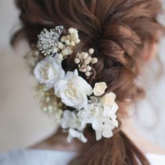 セミロング 結婚式 成人式 外国人風 ヘアスタイルや髪型の写真・画像