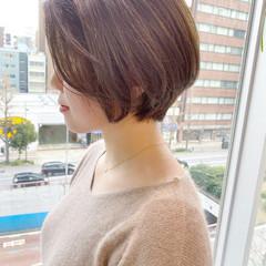 ショート 大人かわいい ナチュラル ショートヘア ヘアスタイルや髪型の写真・画像