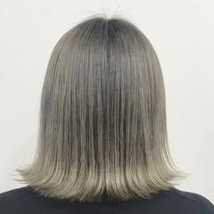 切りっぱなし ガーリー 外国人風カラー 外ハネ ヘアスタイルや髪型の写真・画像