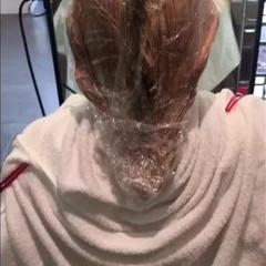 デート フェミニン ハイライト アッシュ ヘアスタイルや髪型の写真・画像